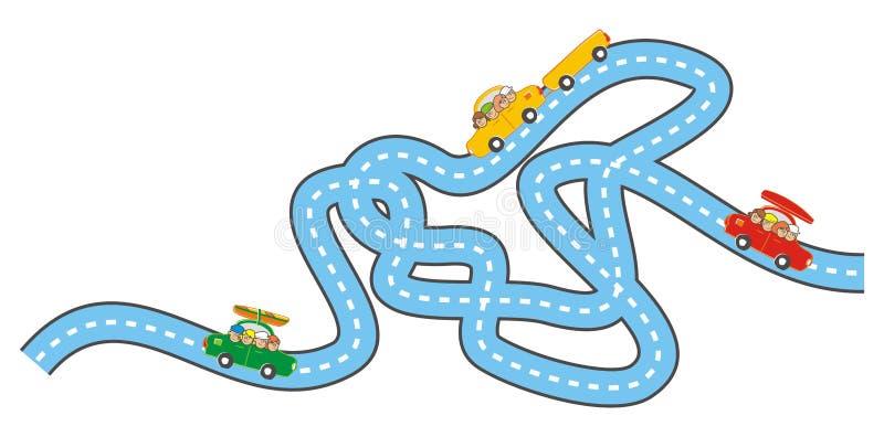 Download 路和汽车 向量例证. 插画 包括有 例证, 男朋友, 高速公路, 路径, 题头, 人们, 愉快, 人员, 孩子 - 72361690
