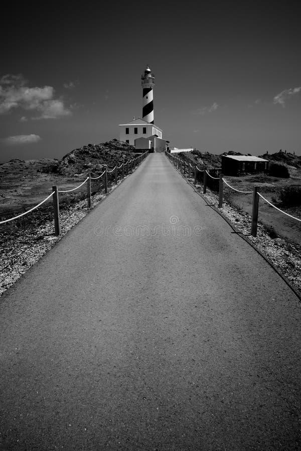 路和灯塔 库存图片