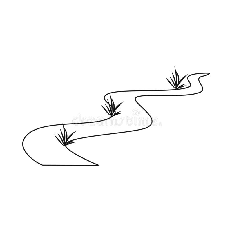 路和风景标志的传染媒介例证 设置路和小径股票的传染媒介象 向量例证
