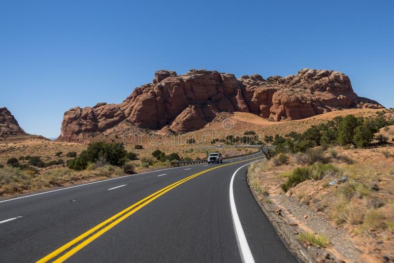 路在亚利桑那,美国 免版税库存照片