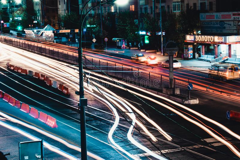 路在城市 库存照片