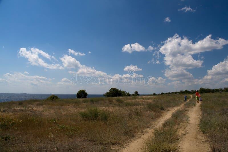 路在夏天 免版税图库摄影