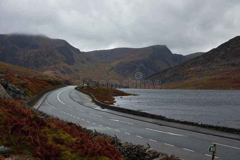 路在威尔士 免版税图库摄影