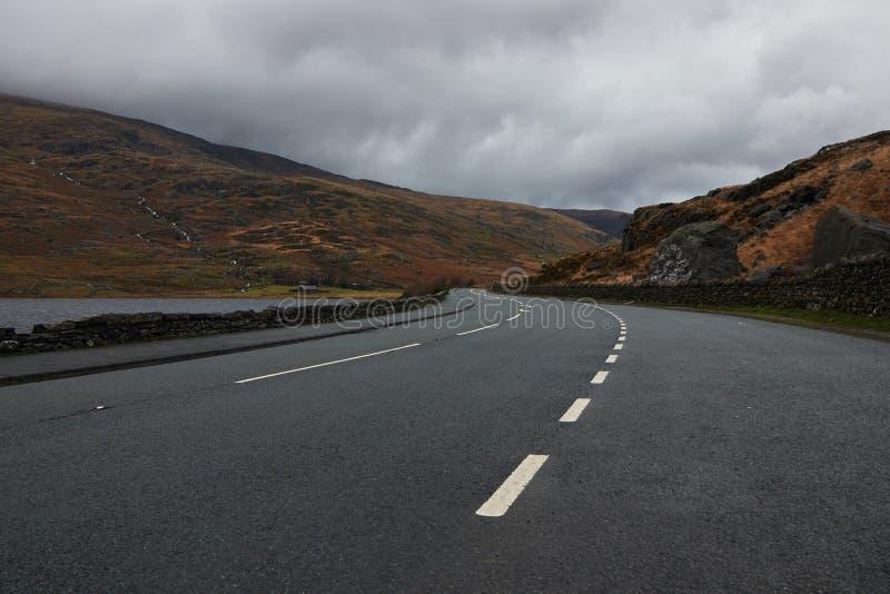 路在威尔士 免版税库存照片