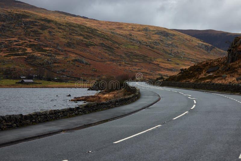路在威尔士 库存照片
