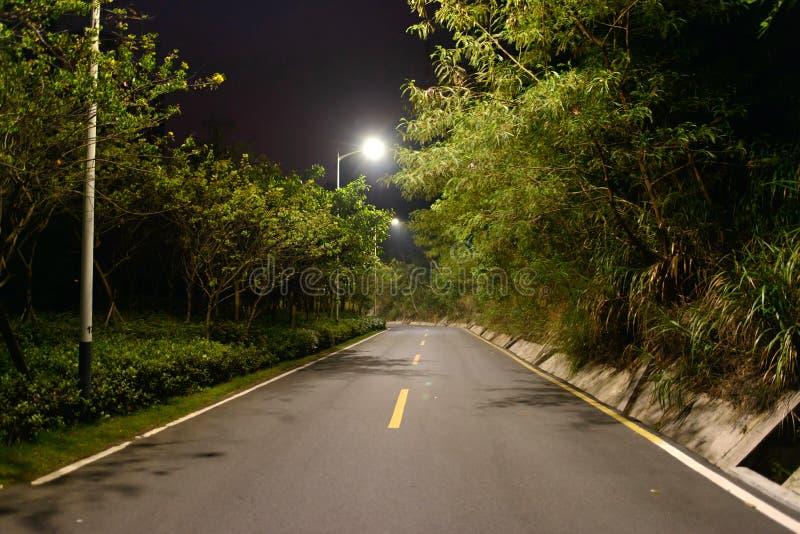 路在晚上 图库摄影
