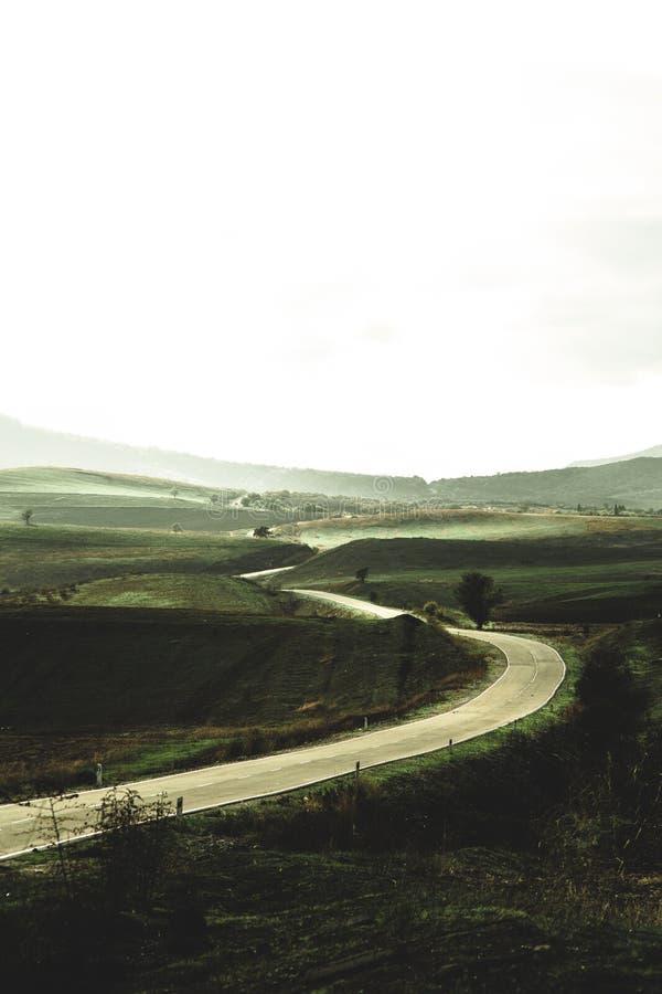 路在村庄 库存照片