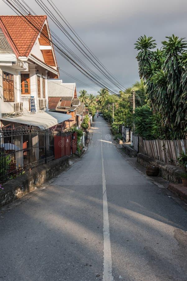 路在琅勃拉邦 库存图片