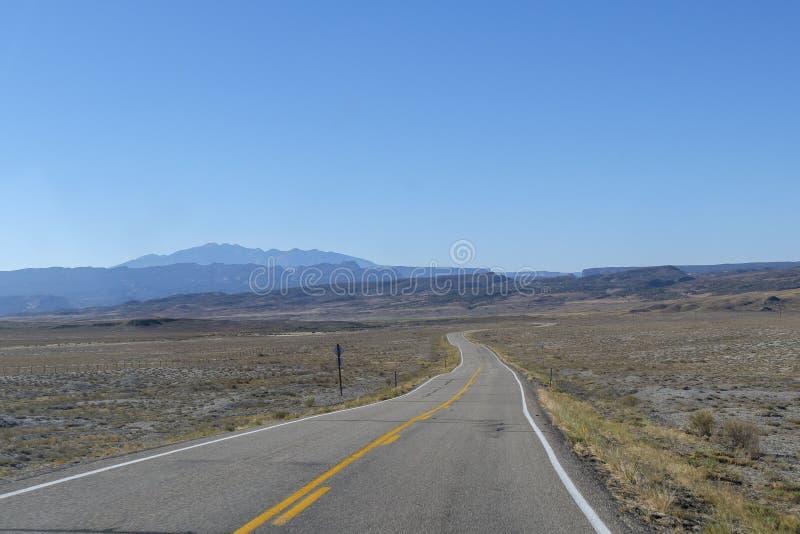 路在科罗拉多,美国 免版税图库摄影