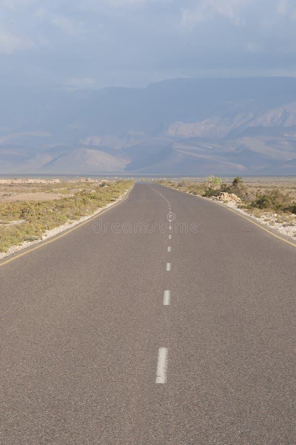路在索科特拉岛 免版税库存照片