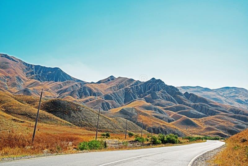 路在阿塞拜疆 库存图片