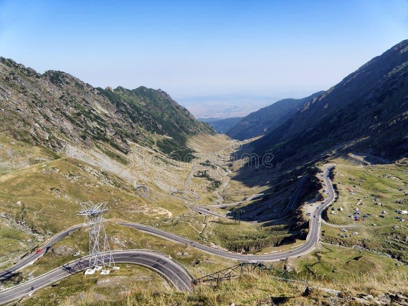 路在Transfagarasan 库存图片