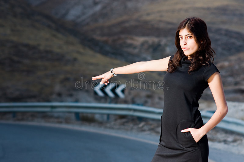 路妇女 免版税库存照片