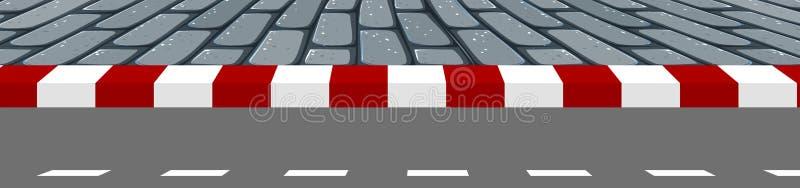 路小径场面 向量例证