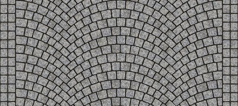 路弯曲的鹅卵石纹理012 免版税库存图片