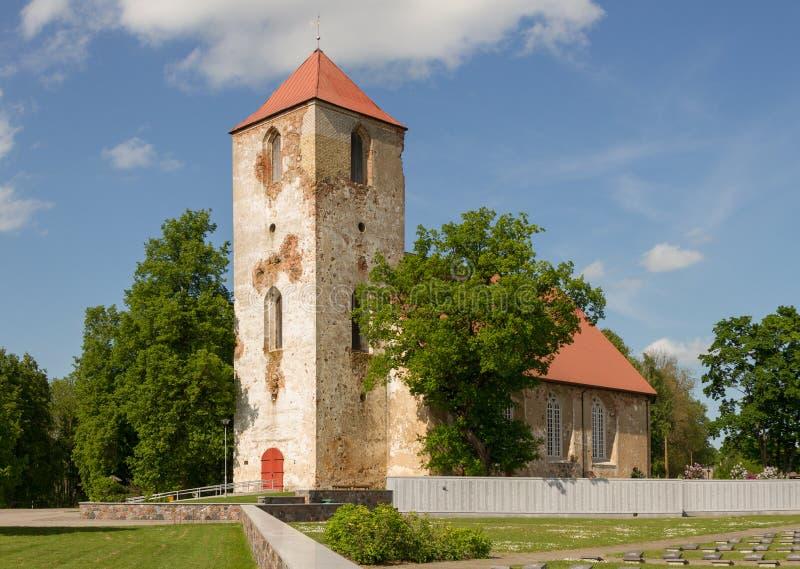 路德教会在Lestene 图库摄影