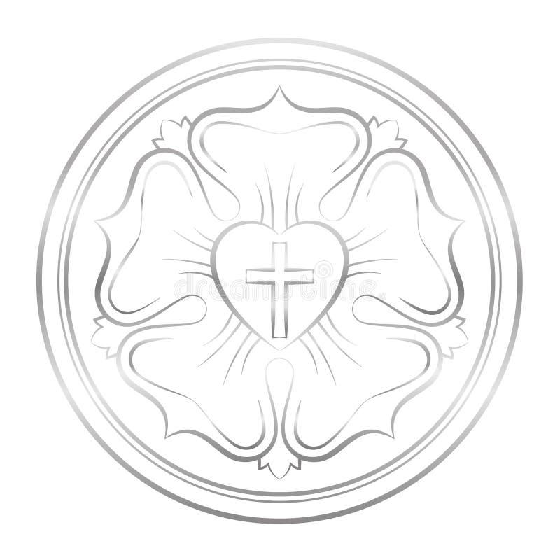 路德标志银罗斯 向量例证
