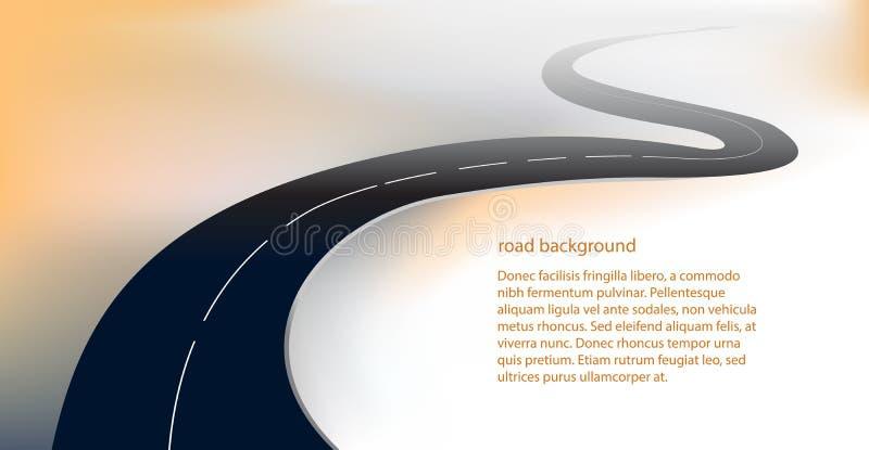 路或高速公路背景传染媒介 库存例证