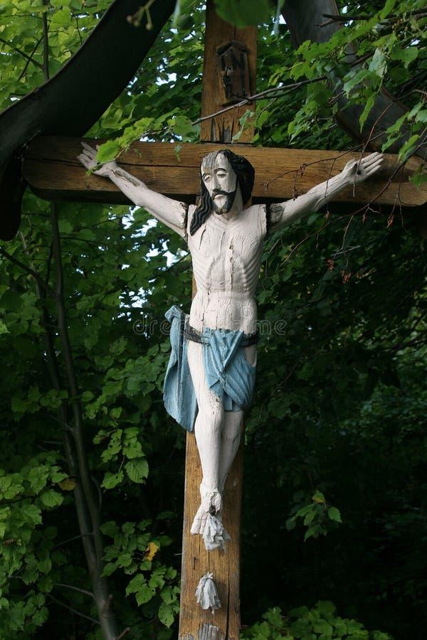 路旁耶稣受难象 图库摄影