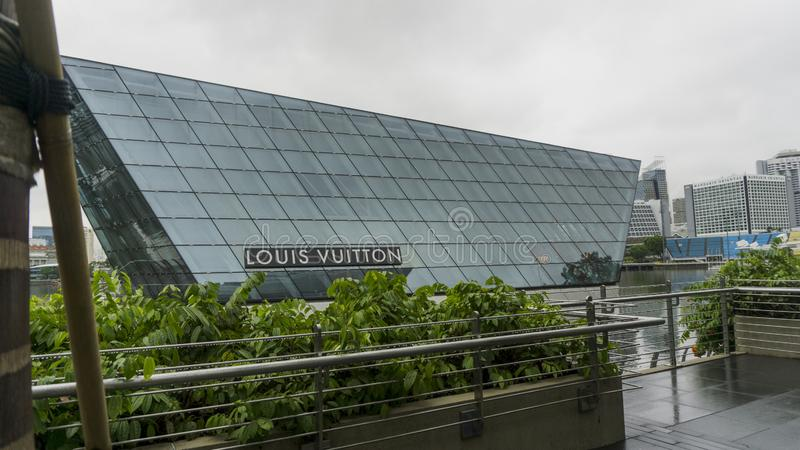 路易・威登大厦在新加坡 库存图片