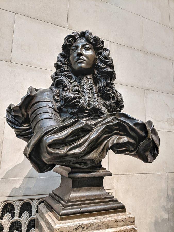 路易十四18世纪胸象济安・贝尼尼 图库摄影