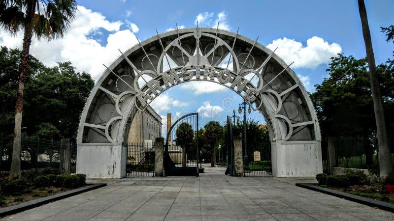 路易斯・阿姆斯特朗公园,新奥尔良,路易斯安那 库存照片