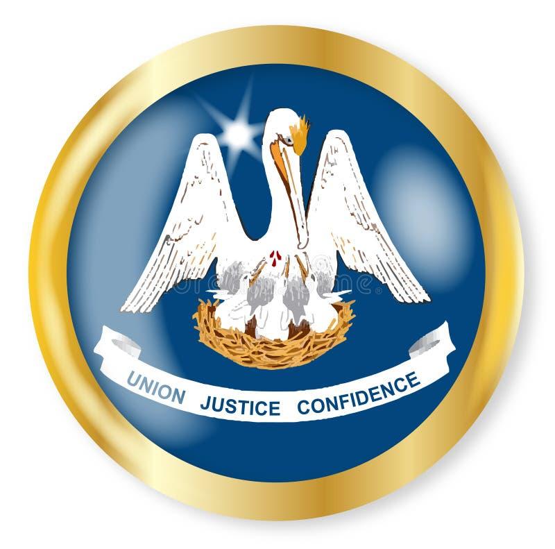 路易斯安那旗子按钮 皇族释放例证
