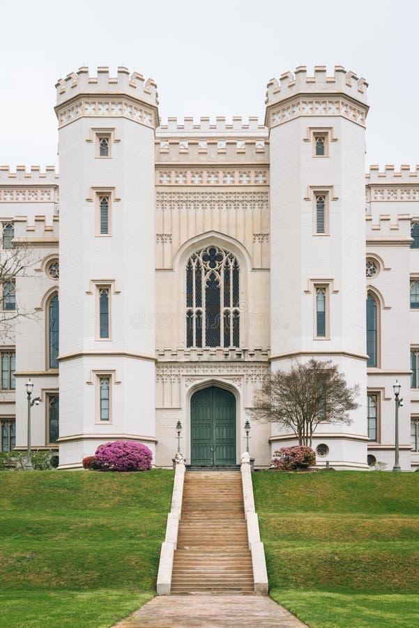 路易斯安那的老状态国会大厦,在巴吞鲁日,路易斯安那 库存照片