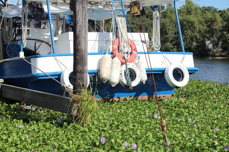 路易斯安那虾小船 免版税库存图片
