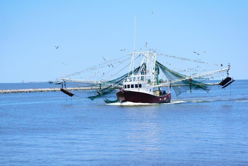 路易斯安那虾小船 免版税库存照片