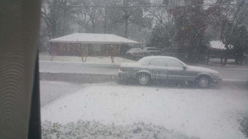 路易斯安那雪天 免版税库存照片