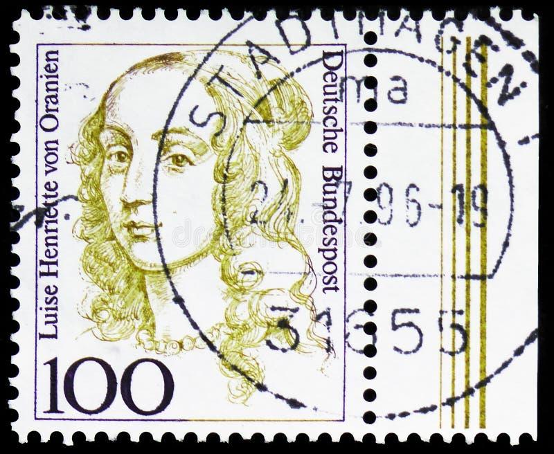 路易斯昂里埃特冯Oranien 1627-1667,Brandenb的选举人,德国历史serie的妇女,大约1994年 库存照片