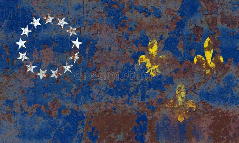 路易斯维尔老市烟旗子,肯塔基状态,美国  库存照片