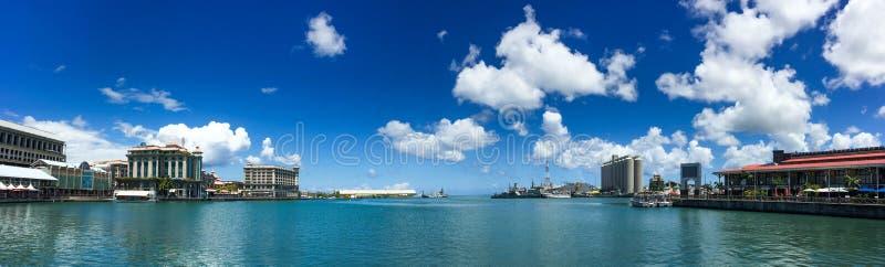 路易港,毛里求斯全景  免版税库存图片