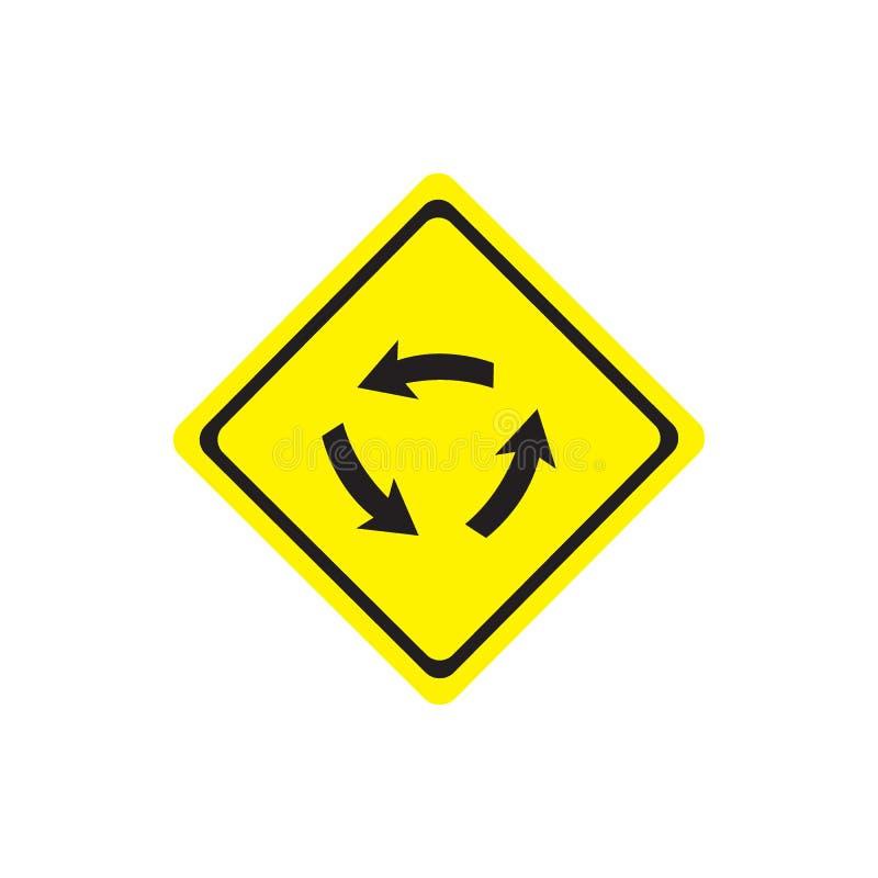 路标业务量参差不齐的警告 皇族释放例证