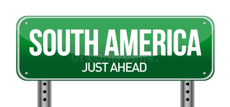 路标向南美洲 皇族释放例证