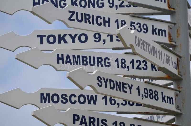 路标在新西兰 免版税库存照片