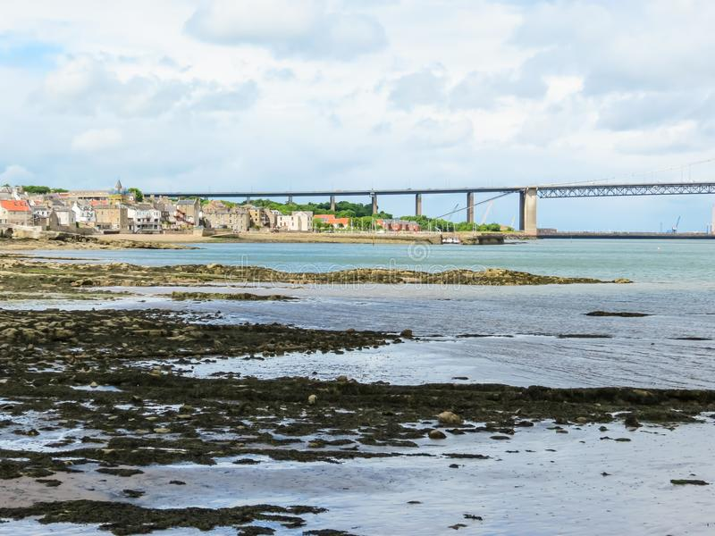 路桥梁和峡湾  爱丁堡,苏格兰,英国 免版税库存图片