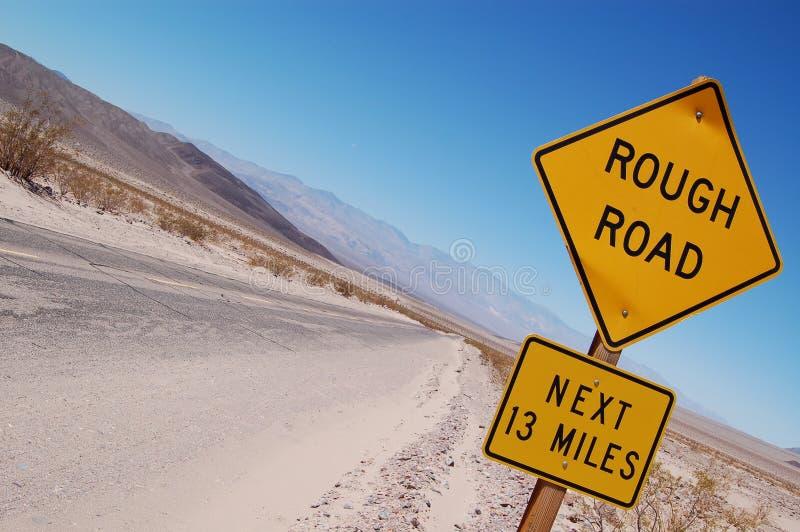路概略的警告 库存照片