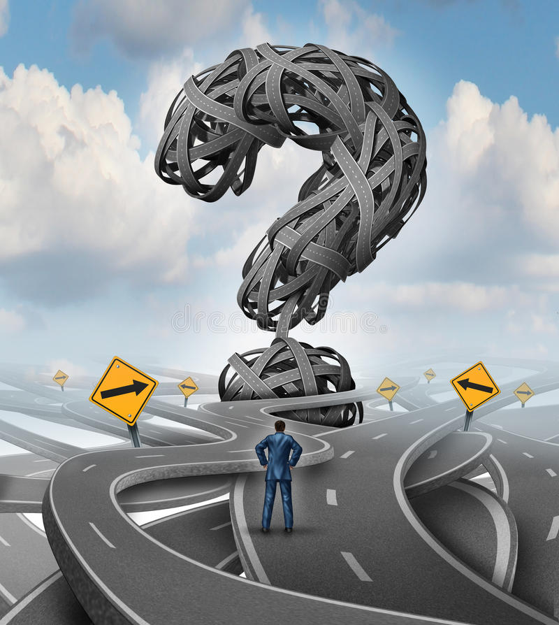 路混乱挑战 向量例证