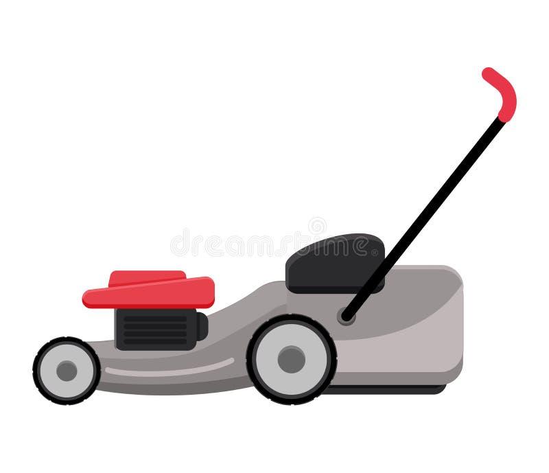 路清洗的机器传染媒介车卡车扫除机擦净人洗涤城市街道例证,vehicle van car挖掘机 向量例证