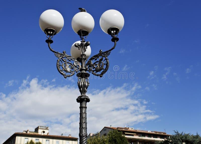 路灯柱在佛罗伦萨 免版税库存照片