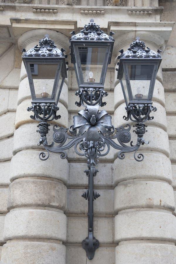 路灯柱在德累斯顿 免版税库存照片