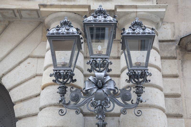 路灯柱在德累斯顿 库存照片