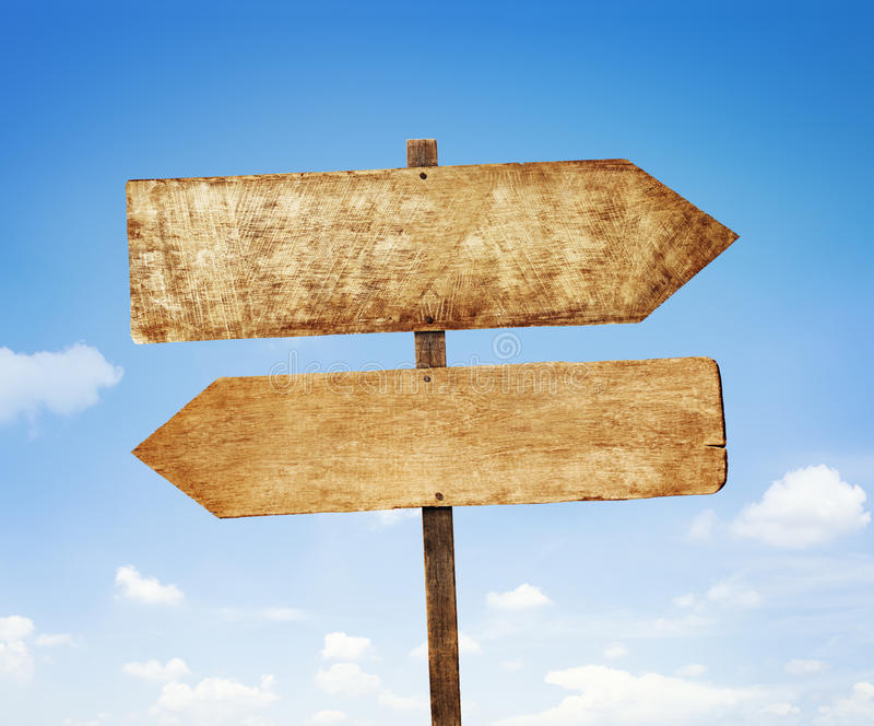 路牌方向指南位置概念 库存图片
