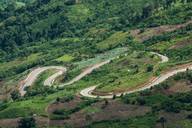 路的弯曲的方式 库存图片
