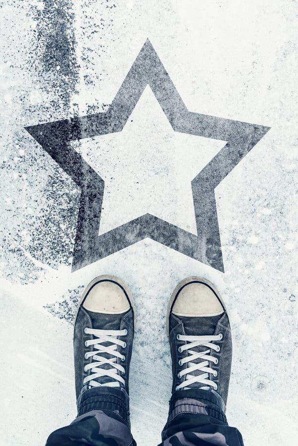 路的熟练和人才有星标志的 库存图片