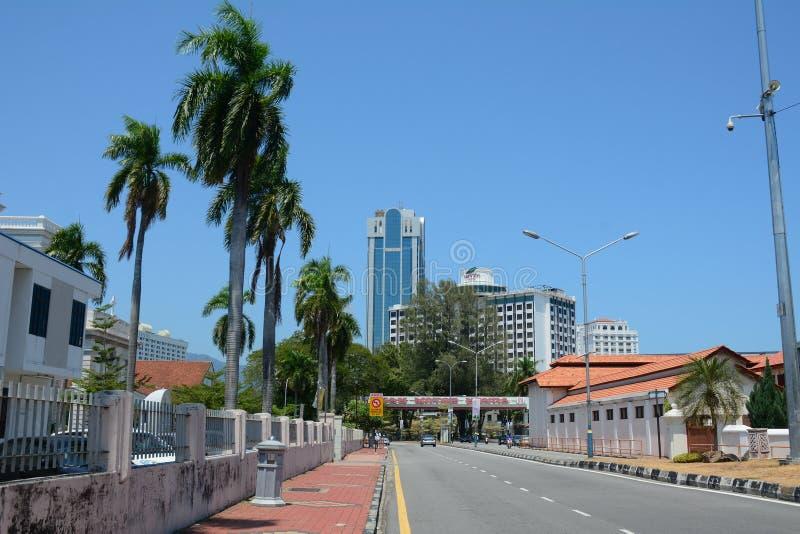 路的看法在乔治城,马来西亚 库存图片