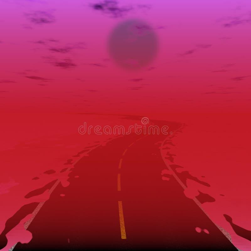 路的科学幻想小说例证在辐射世界的 向量例证