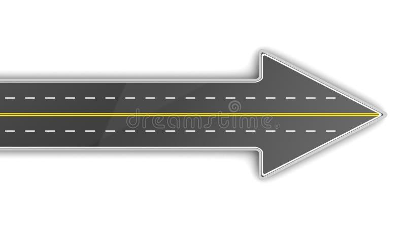 路箭头 向量例证
